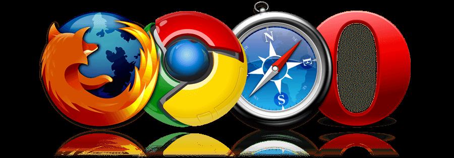 google chrome, firefox, opera, safari